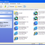 Internet Explorer Collection, todas las versiones de IE