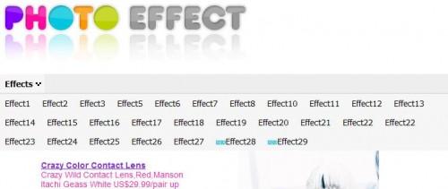 seleccionar efecto