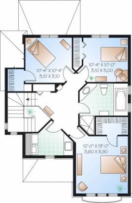 plano-planta-alta-casa-de-2-pisos-y-3-habitaciones1