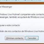 Eliminar y desadmitir contacto en MSN