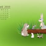 Descargar Wallpaper Calendario Abril 2010