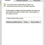Cambiar ubicacion de la carpeta Mis Documentos en Windows 7