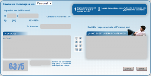 Personal SMS Gratis On-Line