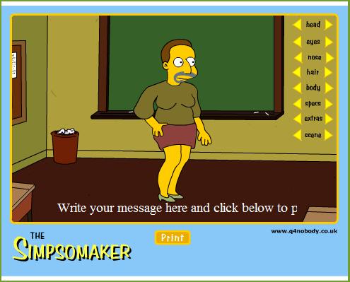 Juego Crea Tu Simpsons