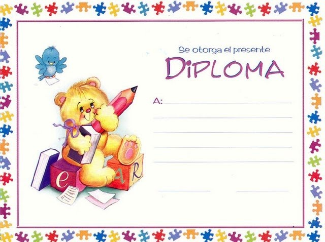 Certificados o diplomas para imprimir y completar | Universo Guia