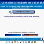 padron.gob.ar: Consultar padron electoral 2011