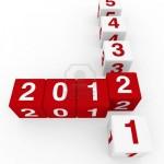 cubo 3d 2011 2012 feliz año nuevo