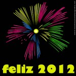 feliz 2012 fuegos artificiales