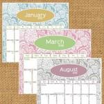 Calendario del 2012 para imprimir y escribir