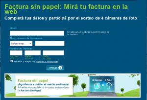 Factura sin papel - Telefónica Argentina