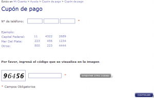 telefonica.com.ar - Canal Online - Cupón de pago