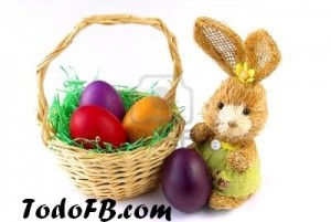 felice -pascuas canasta de huevos con conejo