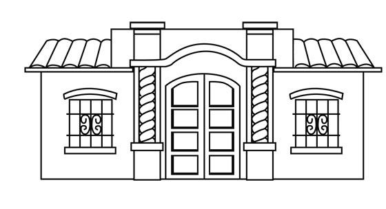 Casa de tucuman para colorear universo guia - Imagenes de casas para dibujar ...