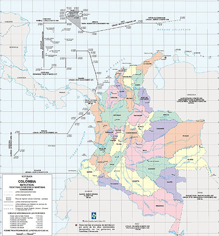Mapa de la division politica de colombia para pintar - Imagui