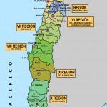 Mapa político y físico de Chile