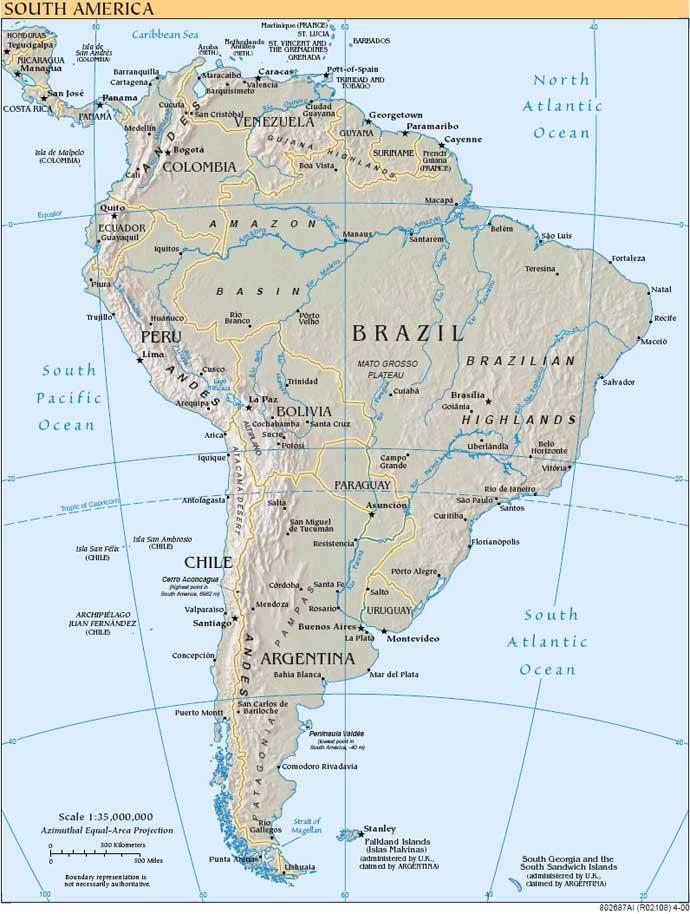 Imprimir Mapas Fisico Y Politico De Sudamérica Universo Guia