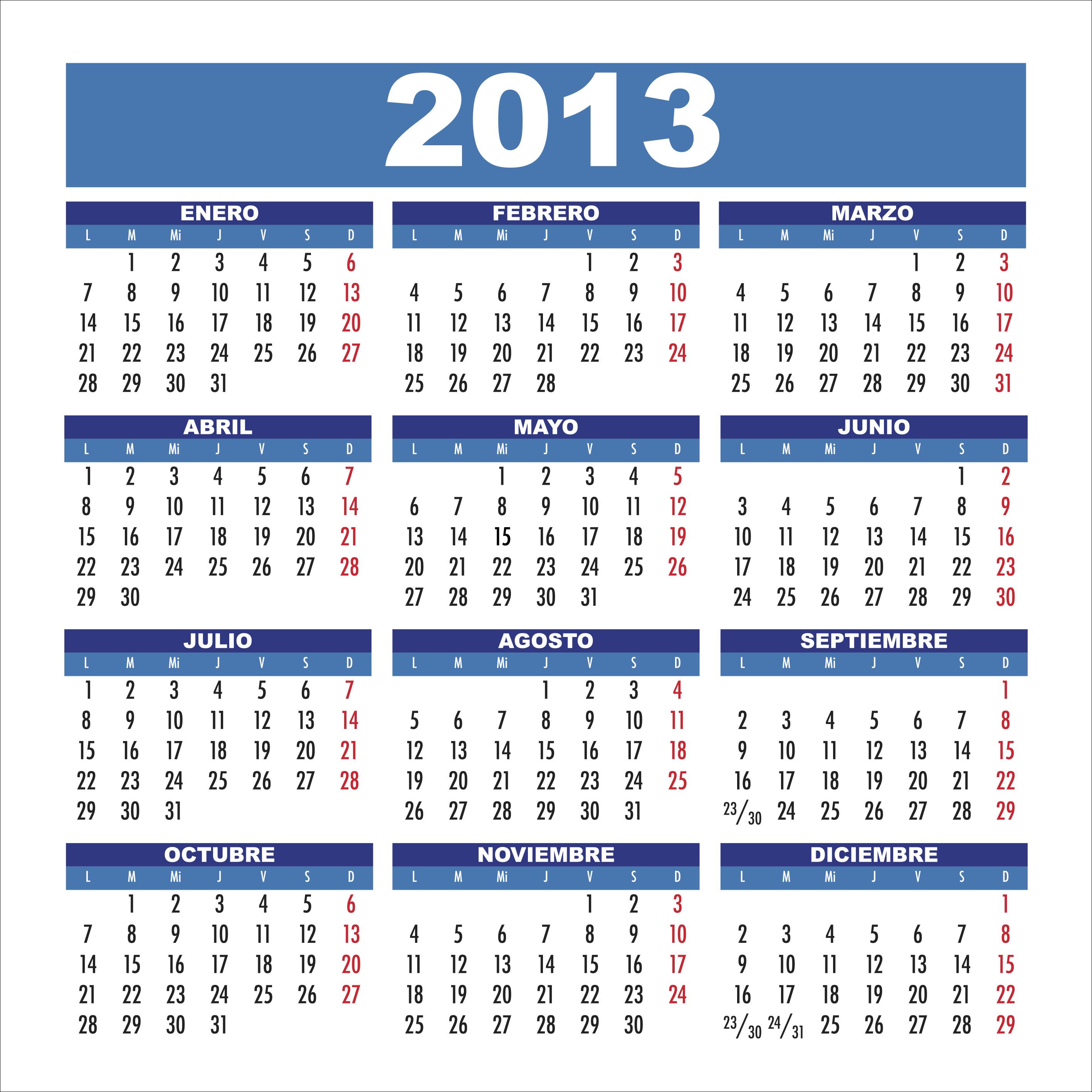 Calendario con foto 2013 para imprimir gratis 72