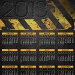 Calendario 2013 en ingles y español