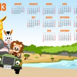 Calendar 2013 with animals