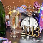 imagen brindis año nuevo 2013