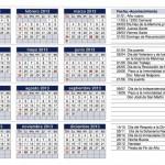 Calendario 2013 para imprimir de Argentina