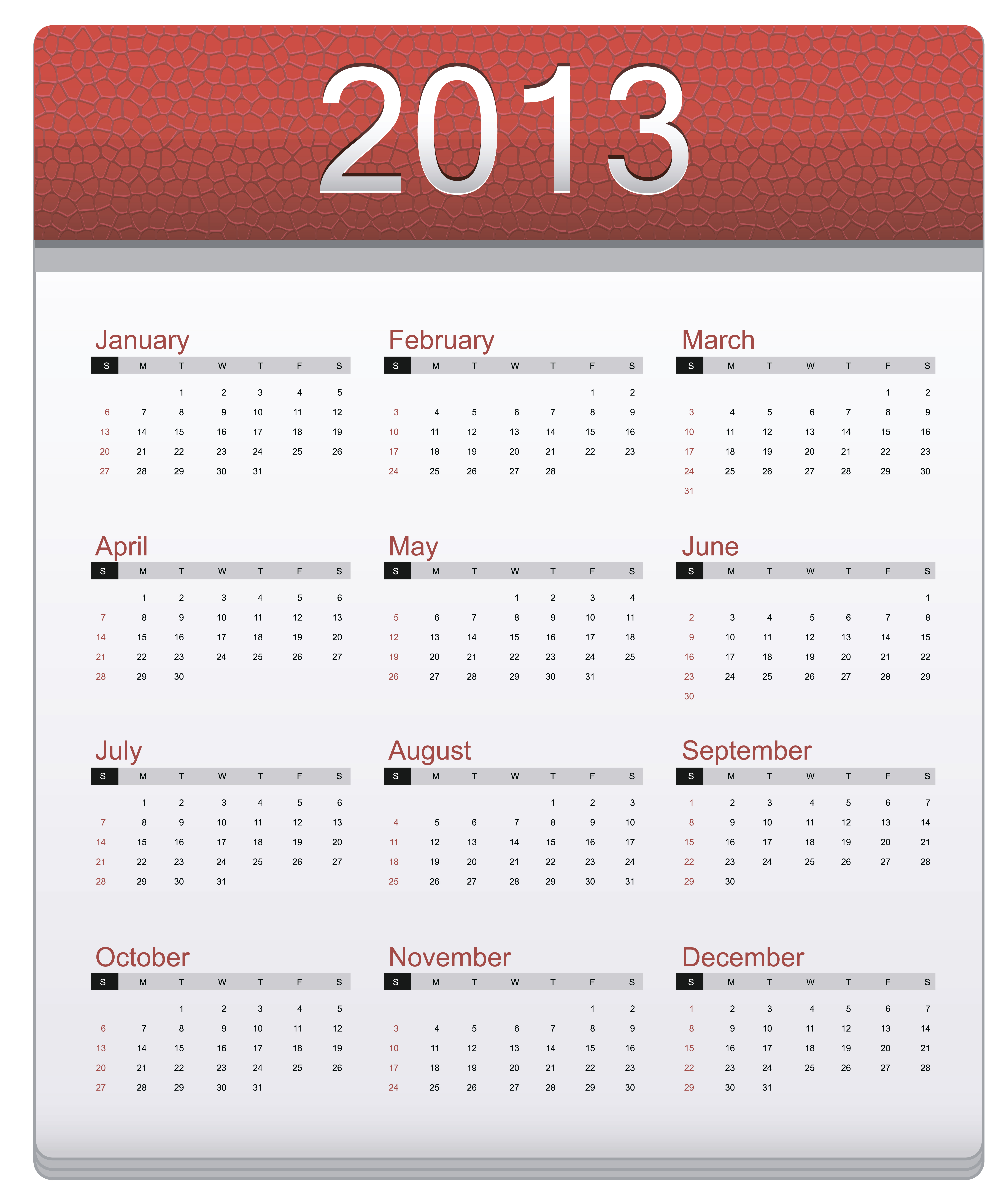 Calendario con foto 2013 para imprimir gratis 9