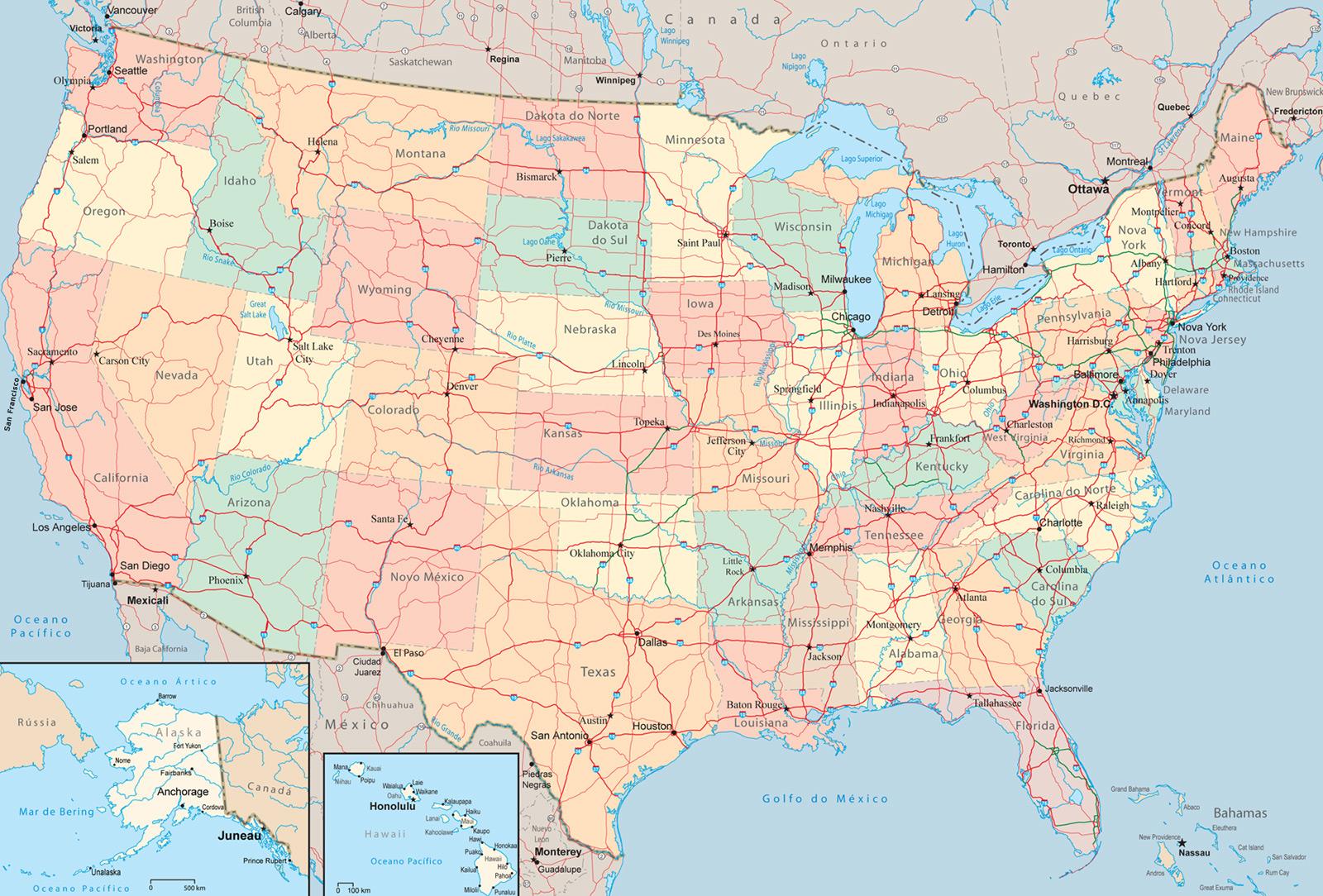 ubicacion geografica estado unidos: