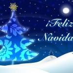 tarjeta postal feliz navidad