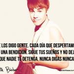 Frases de Justin Bieber para facebook