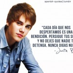 Imágenes con frases de Justin Bieber para facebook