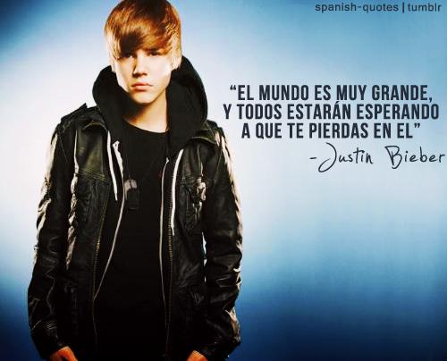 Imagen De Justin Bieber Con Frase Universo Guia