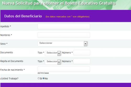 Boleto Educativo Gratuito - Gobierno de la Provincia de Córdoba