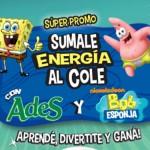 """Promo ADES Bob Esponja 2013: """"Sumale energía al Cole"""""""