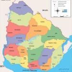 Descargar Mapa politico y fisico de Uruguay