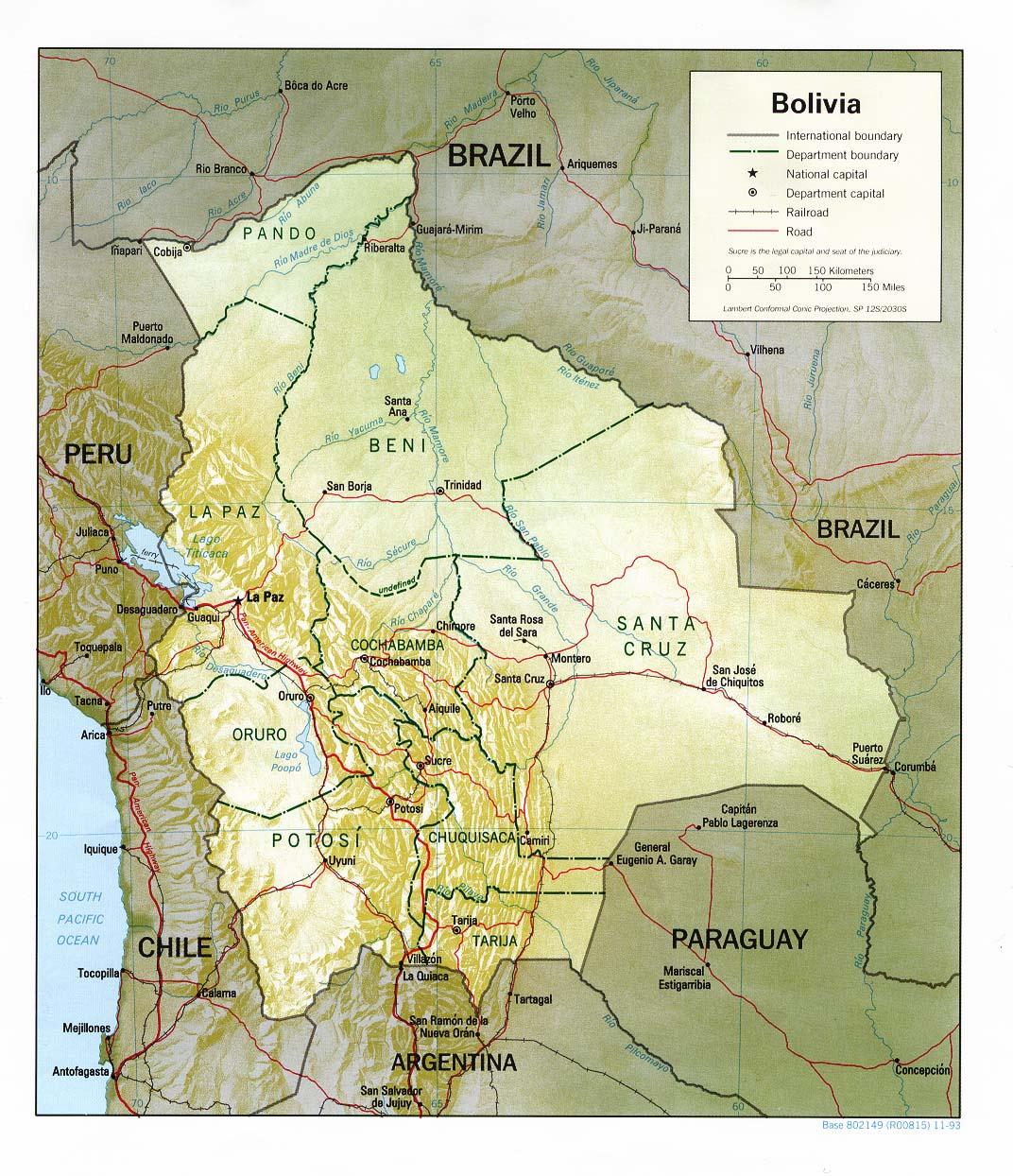 Descargar Mapa Físico Y Político De Bolivia Universo Guia