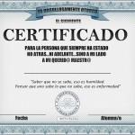 Diploma para mi maestra