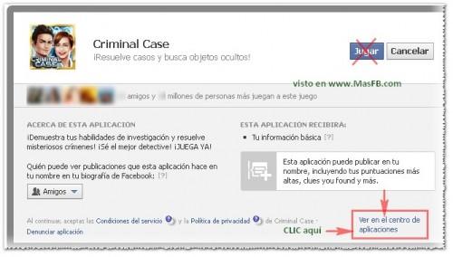 Juego criminal Case eliminar invitacion