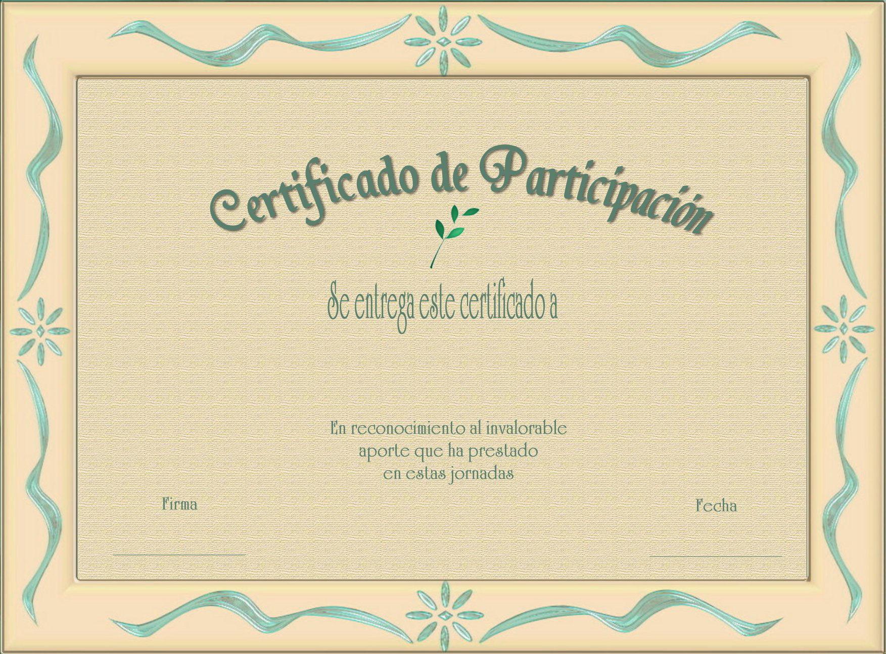 atractivo plantillas editables de certificados bosquejo ejemplo de