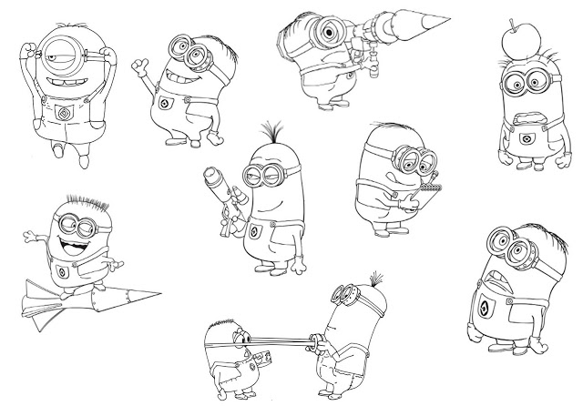 Como dibujar a los minions  Imagui