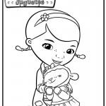 doctora juguete y sus personajes para pintar