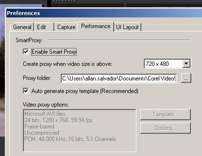 habilitar Smart Proxy en VideoStudio X4 X5 y X6