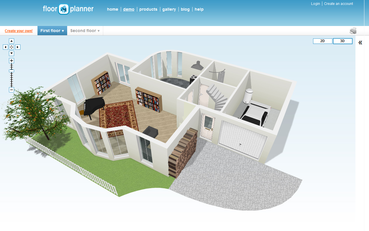 create a house online webshoz com