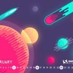 Calendarios del mes de febrero 2014