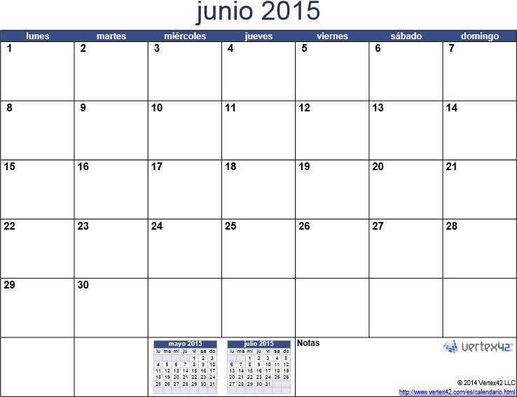 descargar e imprimir junio 2015