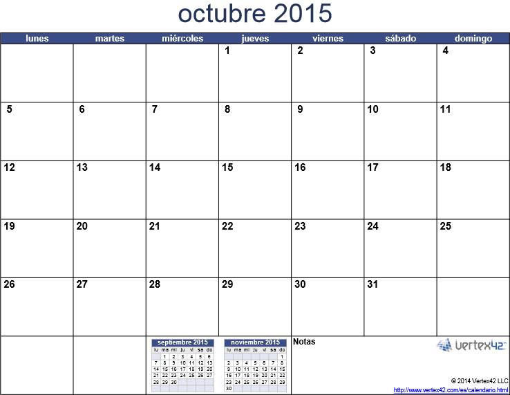 ... en formato PDF y luego imprimir el calendario 2015 mes por mes