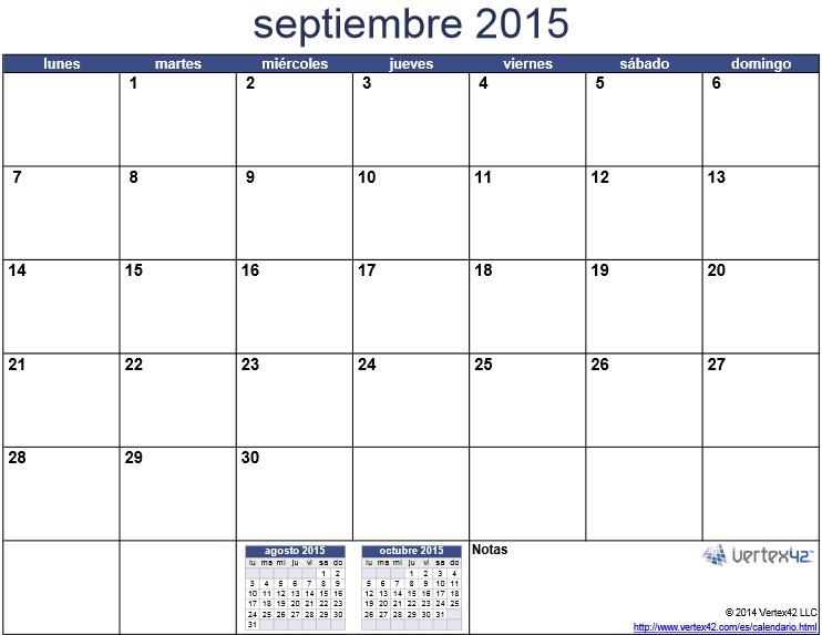 septiembre 2015 para imprimir