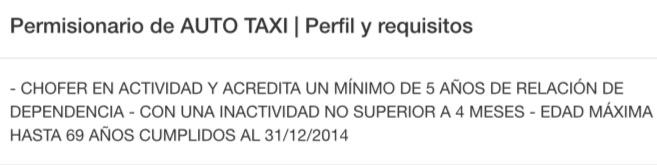 anotarse taxi