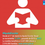 Ayuda Escolar Anual 2015, requisitos para solicitar