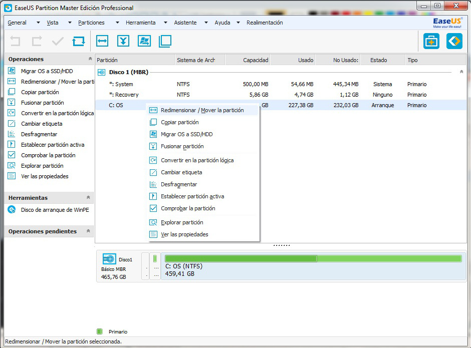 partition master 1