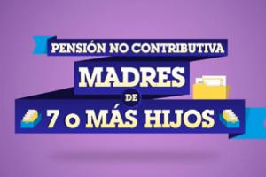 Pensión no Contributiva a Madres de 7 o más Hijos
